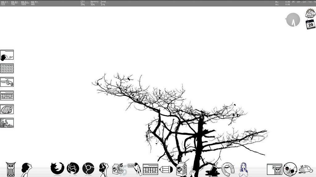 monochrome-desktop