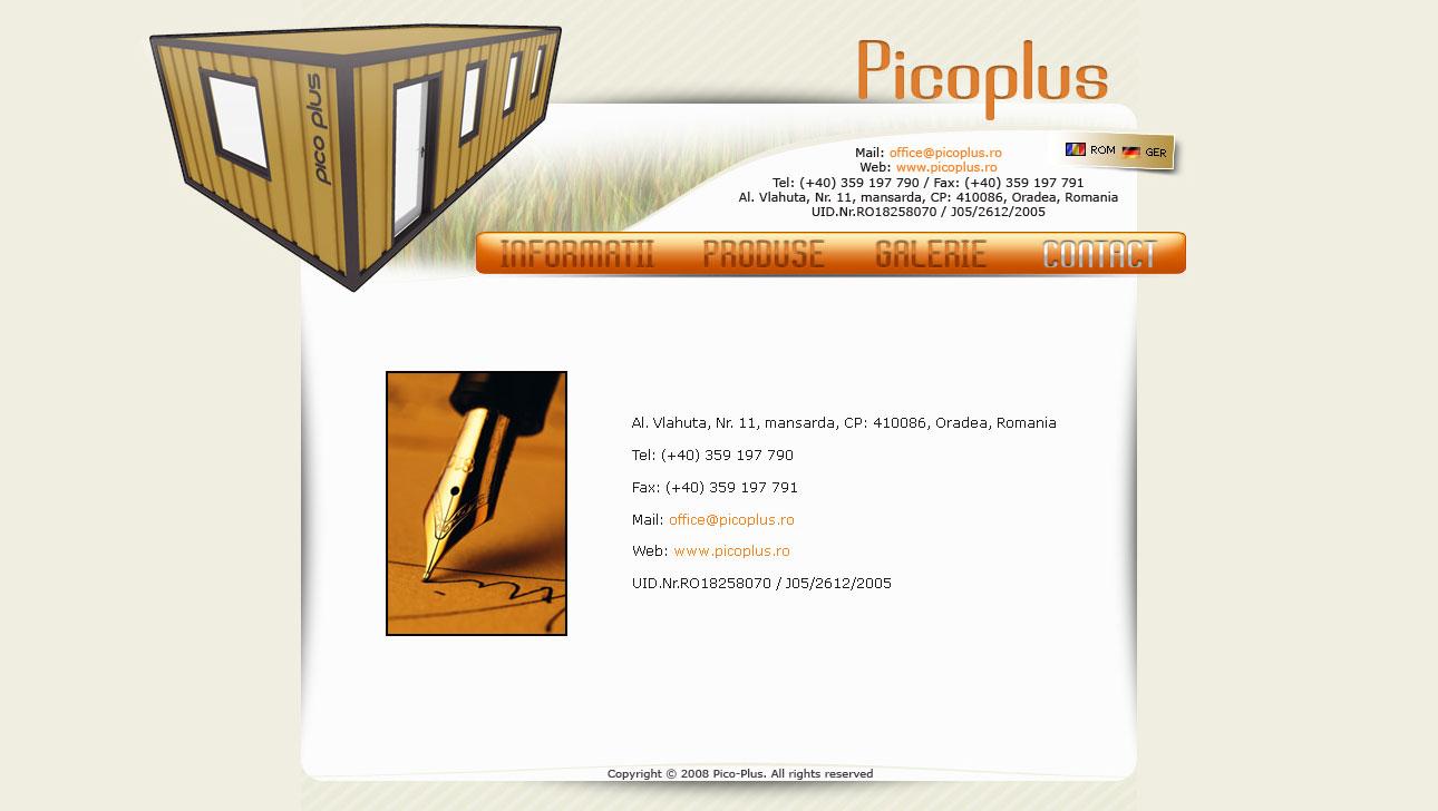 pico plus website design proposal, dtbsz, blasko szabolcs, pico plus containers, rebeca fildan, containere romania