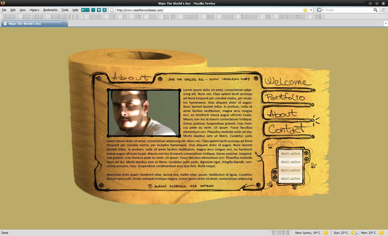 wipe the worlds ass design, blasko szabolcs, dtbsz, webdesign, creative webdesign, yellow websites