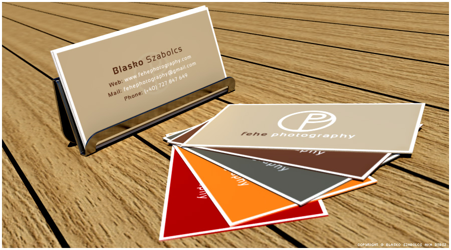 3d business cards simulation, company identity design