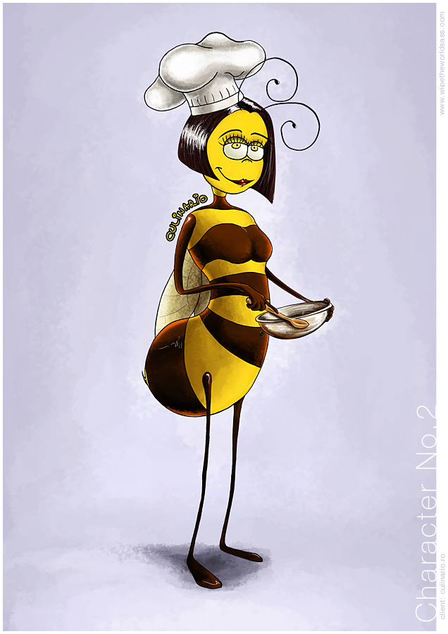 culinario, corporate identity design, mehecske rajz, bee drawing, cute bee drawings