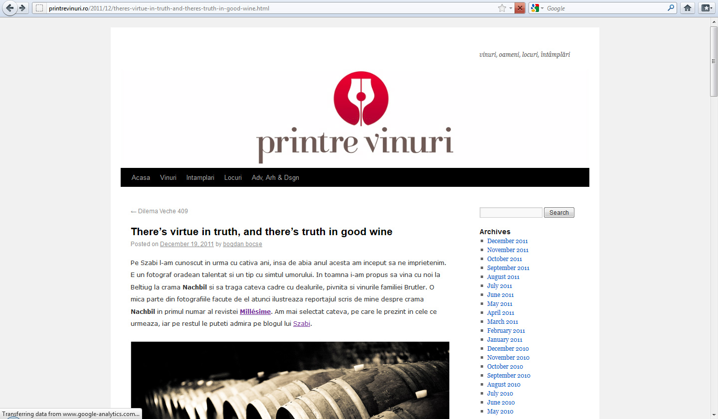dtbsz featured on printre vinuri ro